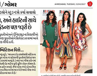 INIFD Ahmedabad – Femina Miss India Gujrat Finalist Interactive Session