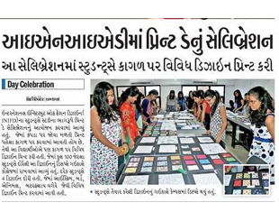 INIFD Ahmedabad – Print Day Celebration