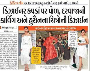 INIFD Students Prepared Heritage Theme Based Khadi Cloth's