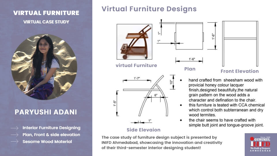 Furniture Design Case Study by Paryushi Adani