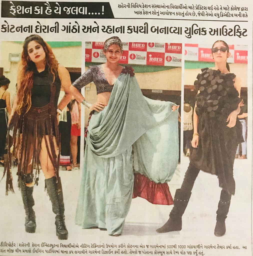 Ramp Walk on Macrame & Emboss Design Creations