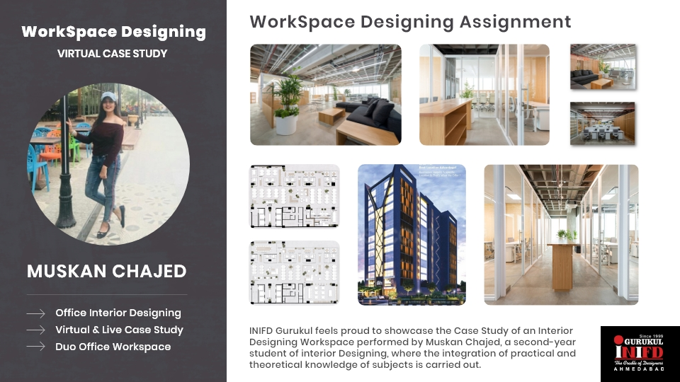 Case Study Of An Interior Designing Workspace By Muskan Chajed Inifd Ahmedabad